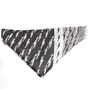 Sandro Accessories - Sandro Cotton Fringed Scarf Reversible Printed